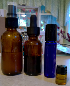 Spray, dropper & roller bottles.
