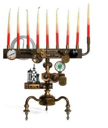 steampunk-menorah
